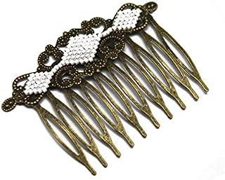 Pettine per rombo giappone ottone bianco bronzo accessorio capelli regalo personalizzato natale amico festa della mamma co...