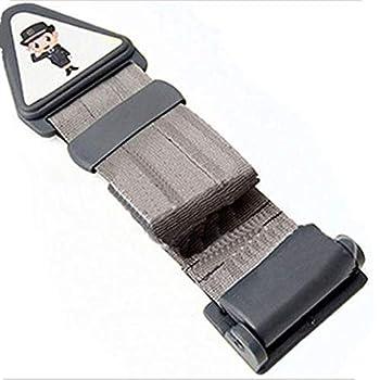 Seat Belt Adjuster for KidsTravel,Neck Support Headrest Seatbelt Pillow Cover & Seatbelt Adjuster for Child  Grey