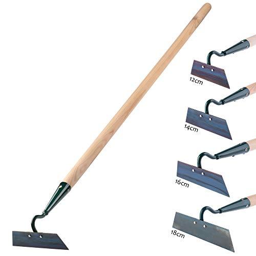 KADAX Hacke, Gartenhacke zum lockern, lüften und jäten des Bodens, für Garten, Blatt aus Metall, Gartenzubehör, Unkrauthacke zum entfernen von Unkraut, Grubber (Arbeitsbreite: 14 cm, mit Holzstiel)