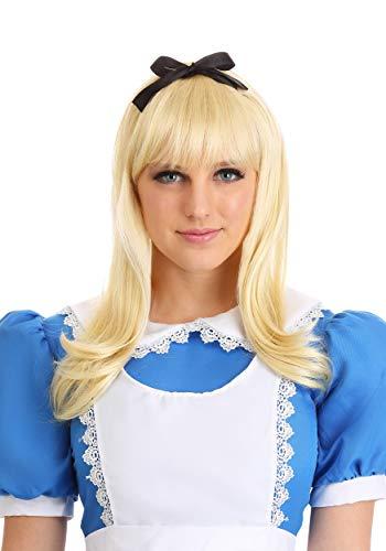 Fun Costumes Alice in Wonderland Classic Blonde Alice Wig Standard
