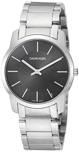 Calvin Klein Unisex Erwachsene Analog-Digital Quarz Uhr mit Edelstahl Armband K2G22143