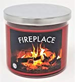 Fireplace Candle ~ 100% Natural Soy Scented Candle ~ Fireplace Fireside Candle (Large 3 Wick)