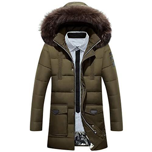 ZFQQ Abnehmbare warme Lange Jacke für Herren Winter Daunenjacke
