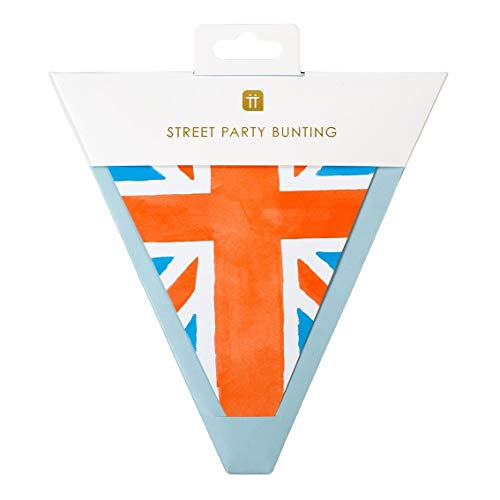 Talking Tables- Union Jack Flag British Bunting Celebrate VE Day Tamaño: 3 m, 12, Color banderines británicos. (BRIT20-BUNTING)