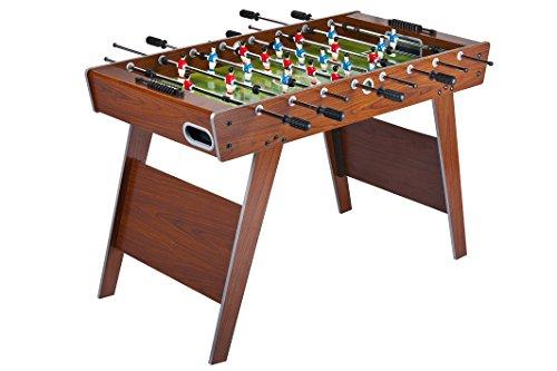 Leomark Futbolín de Mesa futbolines Classic, mesa de madera para jugar al futbolín, Dimensiones: 122 x 61 x 79(A) c