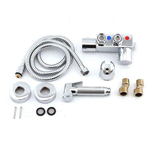 HYY-AA Aseo portátil aerosol del bidé - All-Cobre Aseo pistola de pulverización en caliente y en frío Limpiador termostática Cuerpo