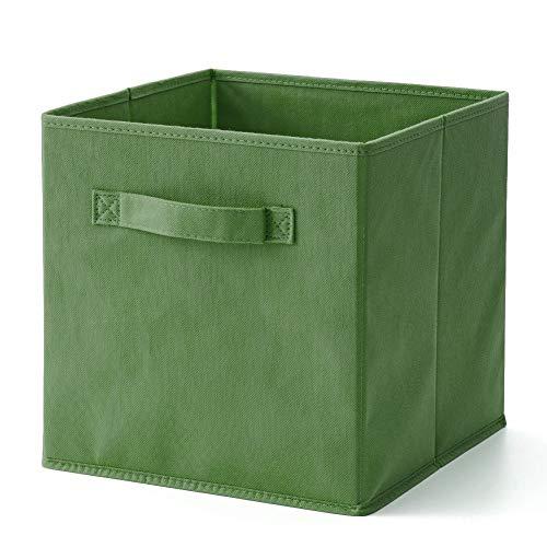 ZGQQQ Cesta De Almacenamiento De Tela, Cajas De Almacenamiento De Ropa Plegable Lavable, para Juguetes De Ropa DVDs Arte Y Libros, Cds, Lavadora Organización 33 x 38 x 33cm Azul y Verde