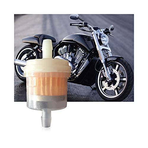 Cubierta de plástico a Prueba de Agua 1/4 Pulgadas 6-7 Mm Motocicleta S&Cooter Manguera Línea Gas Combustible Filtro Gasolina Filtro de Colmena