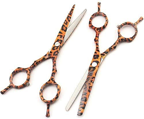 Tijeras Para Mascotas Tijeras de peluquería doble cara dientes de cizalla de pelo tijeras de peluquería, y el uso en el hogar del peluquero tijeras de acero inoxidable estilista del salón Tijeras de p