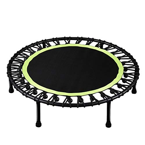 Mini Trampoline for Kids, Outdoor or Indoor Recreational Jumpking Trampolines Trainer, Adult Children Fitness Trampoline Load-bearing 330 lbs (Green)