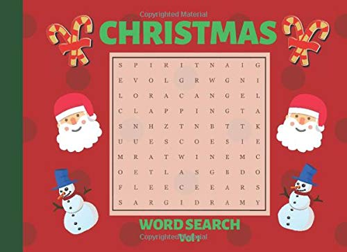 Christmas Word Search: Large Print Puzzle Book for holiday season - Vol 1 (Christmas puzzles)
