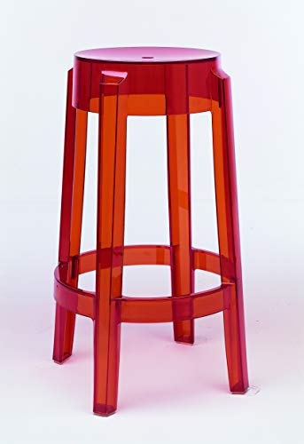 Kartell 4899 / E3 Charles Ghost Kruk, hoogte 75 cm, oranje, 1 stuk