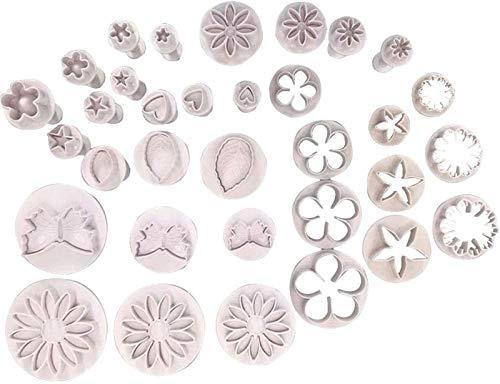 hsj LF- Herramientas de decoración de pasteles, molde Set Pastry Frosting Accesorios de equipo de alisado, forma de pastel blanco