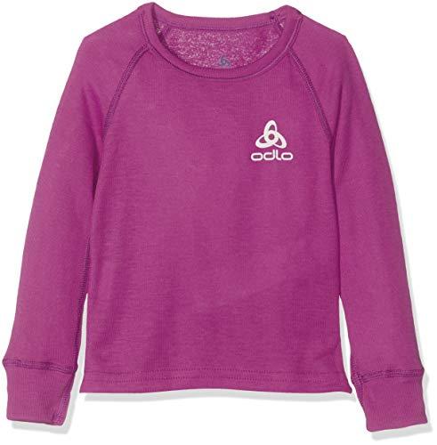 Odlo Kinder BL TOP Crew Neck l/s Active WARM Kids Unterhemd, Hyacinth Violet, 116