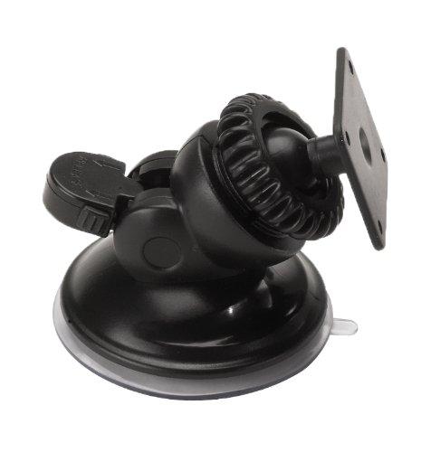 Navigation Low Pro Windshield Mount with Garmin & other GPS Adapters (t-notch plate included) Garmin Nuvi TomTom Via Go Magellan DashCam Navigator Smartphones,Black - Bracketron SWM-400-BL