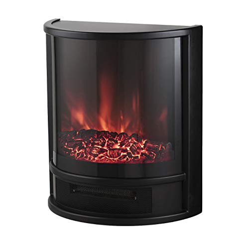Warmlite WL46031 Lavenham 1.8kW LED Log Effect Fire Stove with Adjustable Thermostat Control, 1800 W, Black