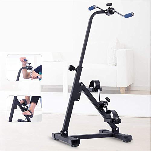 XBSLJ Mini Exercise Bike Portable Pedal Exerciser-Arm & Leg Exercise Peddler Machine-Fitness Equipment for Seniors and Elderly-Folding Exercise Bike Medical Peddler for Leg Arm and Knee Recovery