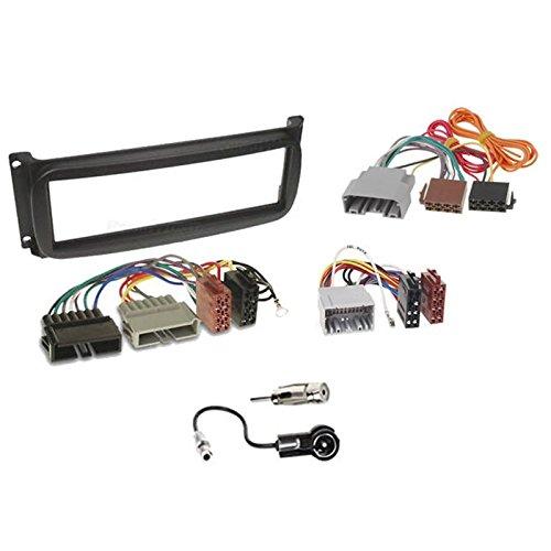 Sound-way Kit Montage Autoradio, Cadre Façade 1 DIN avec Vide Poche, Cable Adaptateur Connecteur ISO, Adaptateur Antenne, Compatible avec Chrysler/Dodge/Jeep