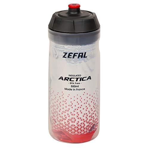 Zefal Unisex Arctica 55 Botella de agua aislada, color rojo, 550 ml