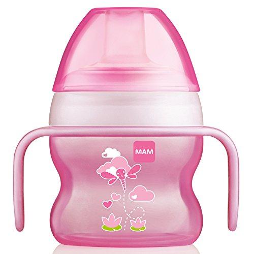 MAM Gobelet pour bébé 150 ml (4 + Mois) Disponible en rose, bleu ou vert (Rose)
