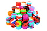 Silicone 50PCS 5ML Non-Stick Wax Containers Multi Use Storage Jars Oil Concentrate Bottles Assorted Colors