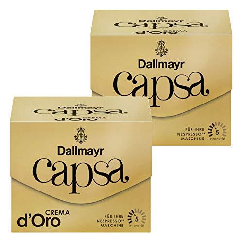 Dallmayr Capsa Crema d\'Oro, Nespresso Kompatibel Kapsel, Kaffeekapsel, Röstkaffee, Kaffee, 20 Kapseln