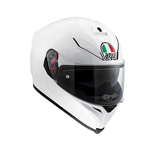 AGV 0041A4MY_005_L K5 S Solid Casco Moto Integral, Blanco Perla, L