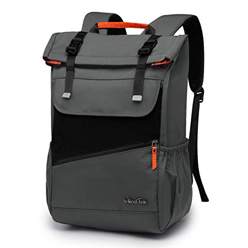 WindTook mohcila escolares para 14 pulgadas mochila mujer casual mochila escuela vintage mochila computadora portátil para hombre mujer mochila viaja mochilas de a diario 28x15x45cm, gris oscuro
