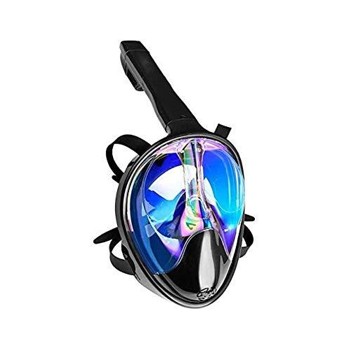 ZOUSHUAIDEDIAN Máscara de Snorkel de Cara Completa, máscara de Snorkeling, 180 Vista panorámica Anti-Niebla Anti-Fugas máscara de Snorkel, Adecuada para Snorkel Adulto/natación, Muy Adecuado para lo