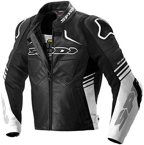 Spidi Bolide Motorrad Lederjacke Schwarz/Weiß 52