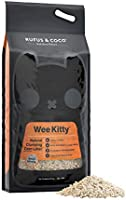 Rufus & Coco Wee Kitty Clumping Corn Cat Litter | Natural Flushable | Low Tracking Biodegradable Pellets | 9kg bag