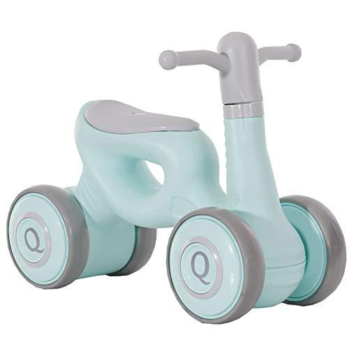 Kinder es Balance-Scooter Vierrad-Auto Kein Pedal Yo Car Mini Fahrrad kann EIN Kinderwagen Kleinwagen Fahrrad nehmen,Greengray