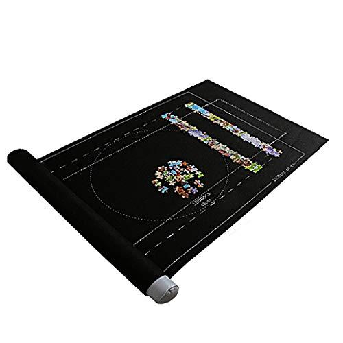 Hunpta - Juego de puzle para almacenamiento de puzle para adultos y niños, hasta 1500 piezas (negro)