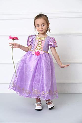 Gbcyp Girl Storybook Rapunzel Cosplay Kostuum Fee Prinses Cosplay Dress Up Paarse Jurk