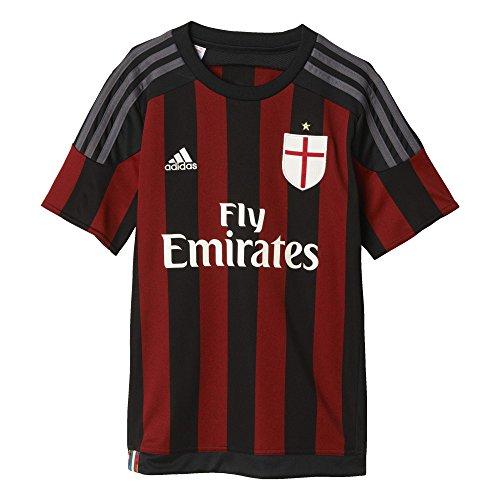 adidas, Maglietta Bambino AC Milan Home, Nero (Black/Victory Red S04/Granite), 152 cm