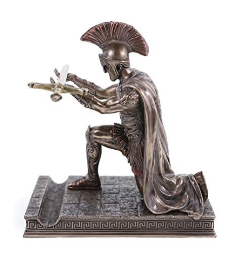 Veronese 708-7407 Brieföffner römischer Zenturio kniet mit Schwert Skulptur Figur Rom Legion
