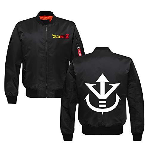 Dragon Ball Pullover For hombre de la juventud collar del soporte del piloto chaqueta del algodón de invierno espesan la capa de la manera Prendas de abrigo Unisex ( Color : Black32 , Size : M )