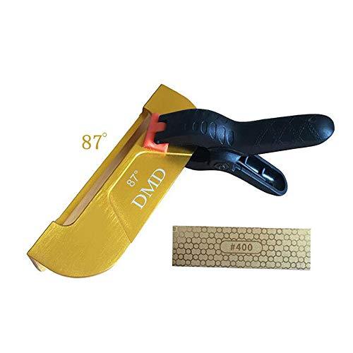 Skis/Snowboard Edge Care Reparatie Kit - Professionele Hoek Clip, Klem, (400/1000 Grit) Dubbelzijdige Diamant 87°+gold
