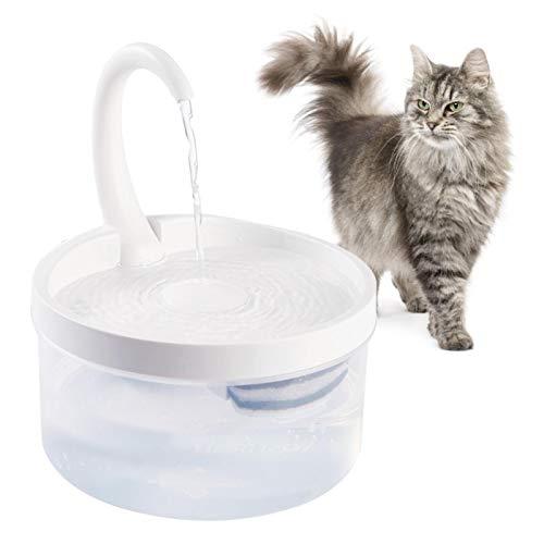 Fuente de agua para mascotas, gato, dispensador automático de agua, recipiente de agua eléctrico, USB, ventana ultra silenciosa, interior, filtro intercambiable, para gatos y perros
