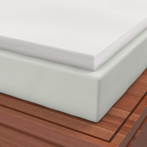 Zippered Cover included with Twin1 Inch Soft Sleeper 2.5 Visco Elastic Memory Foam Mattress Topper USA Made