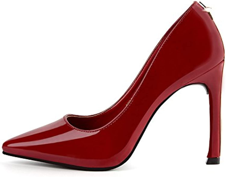FLYRCX Die Europäische feine Spitzen Schuhe mit hohen Absätzen mit flachen Mund sexy Damen Schuhe aus Leder.  | Elegante Form