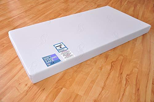 Aloe Vera Matratze für das Kinderbett, 70x140cm oder 60x120cm Kindermatratze mit bis zu 60°C Grad waschbarem Bezug (70 x 140 cm)
