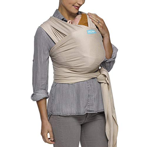 Moby Evolution Baby Wrap Carrier (Petals) - Toddler, Infant, and Newborn Wrap Carrier - Wrap Baby Carrier Ideal for Parents On The Go - Ergonomic Baby Wrap for Mom Or Dad - A Registry Must Have