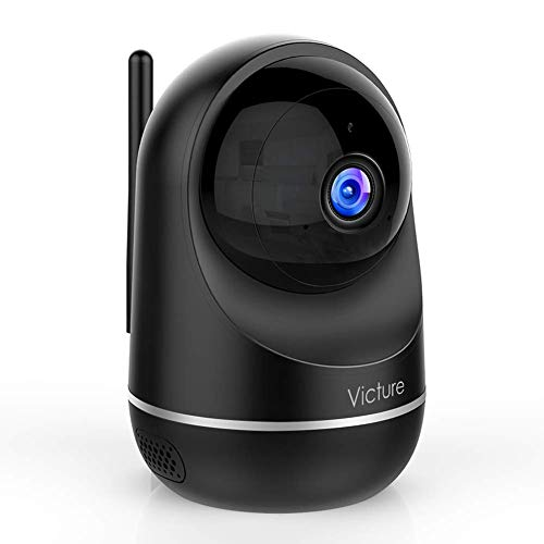 Victure Cámara Vigilancia WiFi Interior, Actualizada 1080P DualBand 2.4G & 5G, Cámara de Vigilancia, HD Visión Nocturna, Audio de 2 Vías,Detección de Movimiento Via IPC360 Home App-Negro