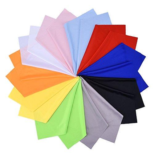 Mikrofaser Reinigungstücher für Gläser, LCD-Bildschirme, Objektive, Kamera, Handy und Tablets (20 Stück, 10 Farben)