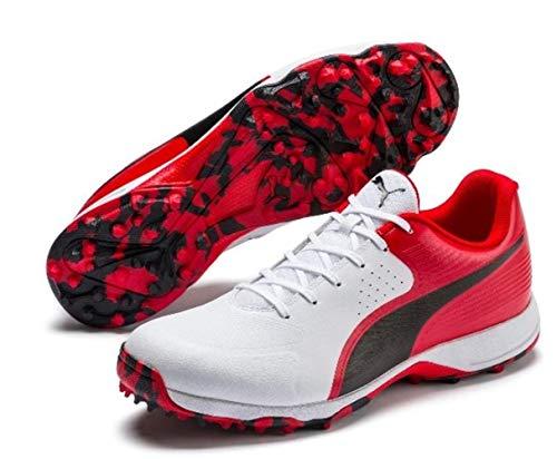PUMA Cricket Shoes - Rubber Outsole - Virat Kohli One8 Edition Cricket Shoes (12) Red