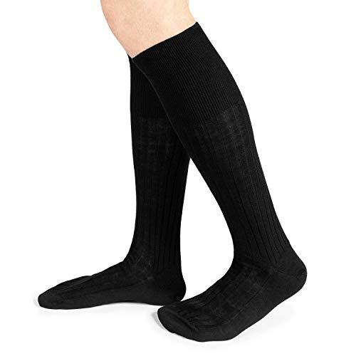 Ciocca calze uomo lunghe sanitarie in lana, senza elastico - 6 paia - Made in Italy - Tre taglie