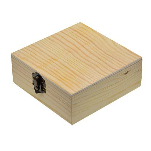kowaku Caja de Almacenamiento de Madera Sin Terminar para Accesorios de Joyería Almacenamiento de Madera para El Hogar de Regalo