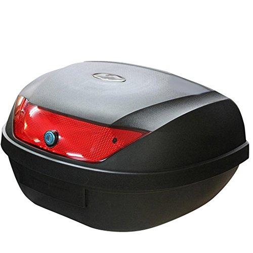 リアボックス トップケース バイクボックス 黒 着脱可能式 取手付 48リットル 48L大容量 原付 【フルフェイス収納可能】【バイクショップ認定】ヘルBOX48L helbox48r