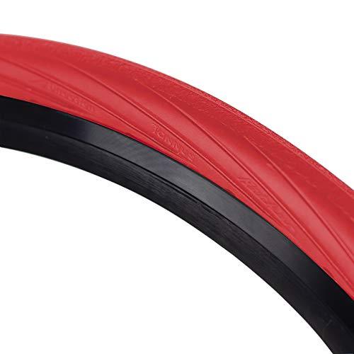 Tannus Tire Cubierta 700x28c (28-622) Portal   Neumático 100% Antipinchazos Bici Carretera, Color Volcano (Rojo), Dureza Hard